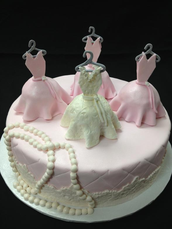 Wedding Shower Dress Cake
