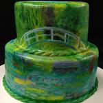 Hand Painted Monet Inspired Cake